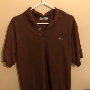 Brown Lacoste Polo Shirt